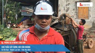Phóng sự công trình sử dụng xi măng Long Sơn tại Hòa Bình ngày 22/09/2021