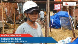 Phóng sự công trình sử dụng xi măng Long Sơn tại Tây Ninh ngày 22/10/2021
